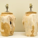 Carved Natural Wooden Urns (T007)