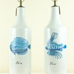 Pair of Contemporary Fish Vases (T006)